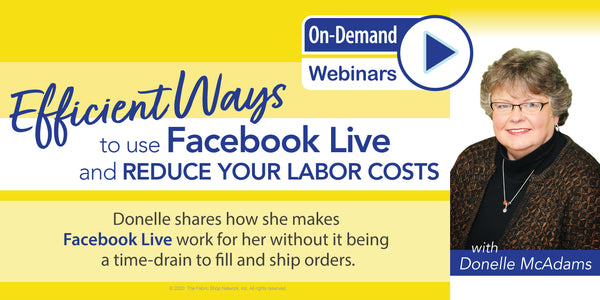 EFFICIENT WAYS to do Facebook Live & REDUCE your labor costs