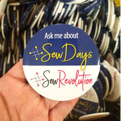 "3"" Round Employee Buttons - #SewDays"
