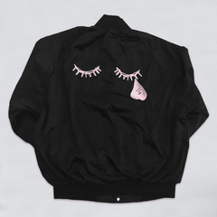 Tears And Lashes Black Satin Jacket
