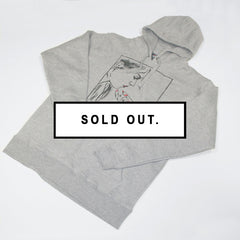CHIN UP OXFORD GREY HOODIE