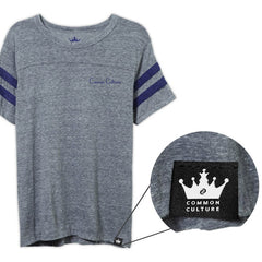 COMMON CULTURE GREY SPORTS TEE