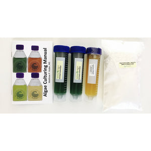 This is a culturing kit for growing the green algae Nannochloropsis.