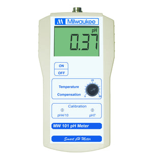 Algae Research Supply:  Battery Operated pH Meter, Milwaukee Instruments MW101