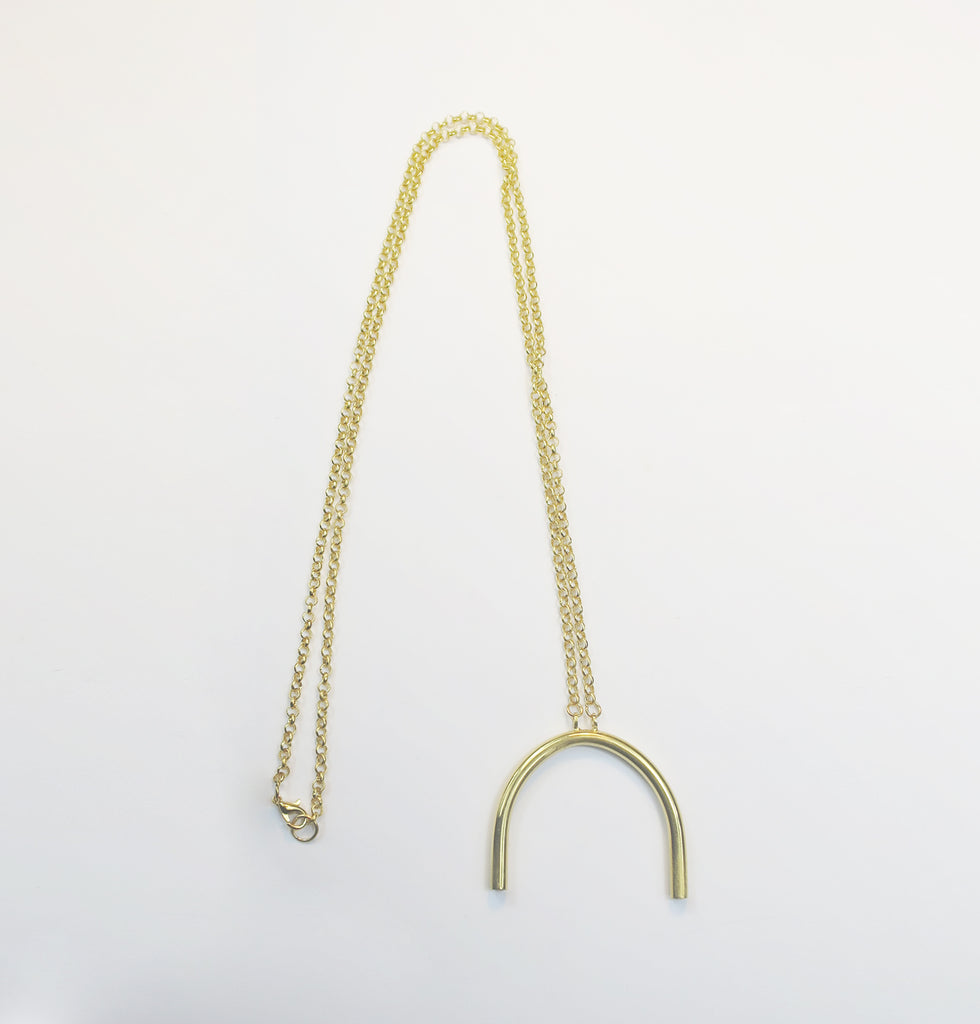 Curved Pipe long necklace