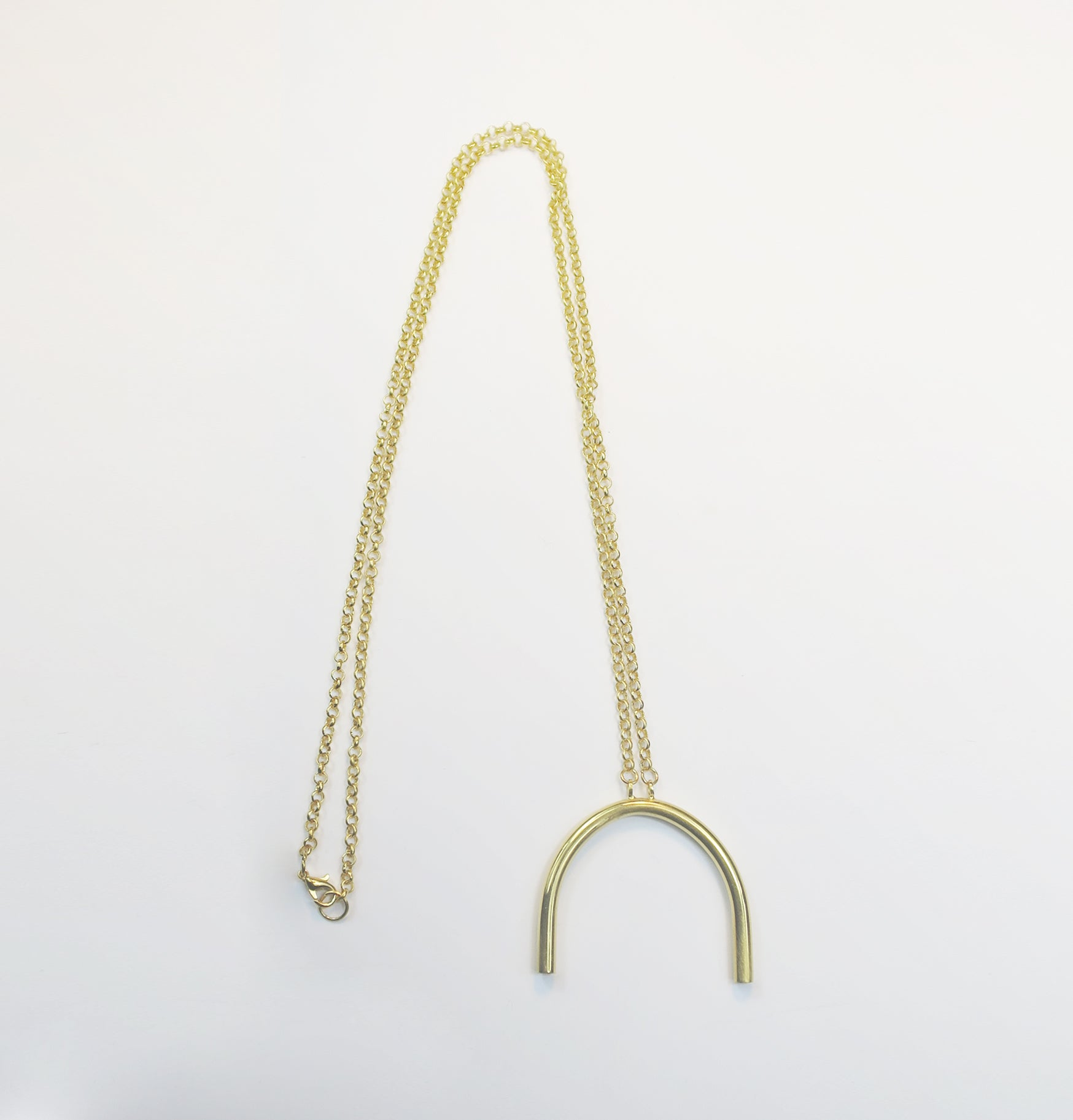 Curved Pipe long necklace - Filia Rex