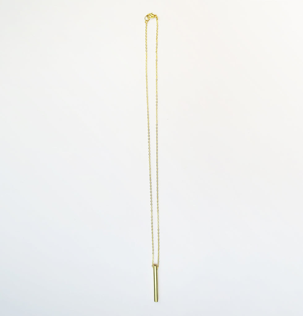 Pipe lavalier necklace