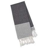 DII Design Imports Black Diamond Fouta Kitchen Towel