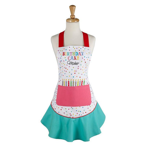 DII Design Imports Birthday Cake Maker Ruffled Apron