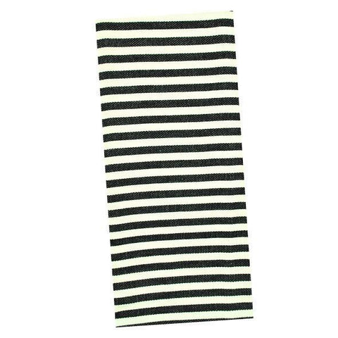 DII Design Imports Black Petite Stripe Dishtowel