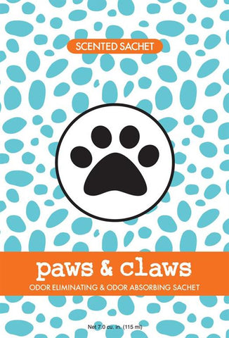 Fresh Scents Scented Sachets in Paws & Claws (set of 3)