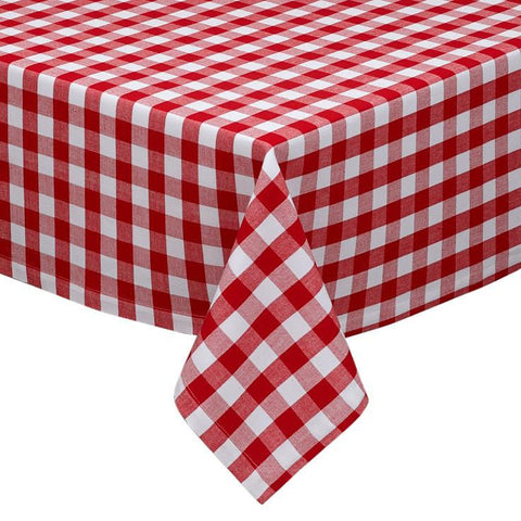 DII Design Imports Tango & White Checkers Tablecloth  52 x 52""