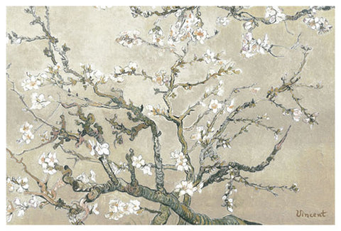 Almond Branches in Tan - by Van Gogh - Giclee Archival Fine Art Paper Reproduction