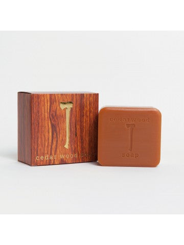 Cedar Wood Soap: warm, woody extract enhances the skin & hair.