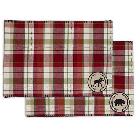 DII Design Imports Holiday Bear Moose Embellished Placemat - Set of 2