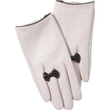 Petite Bow Leather Gloves from Tickled Pink