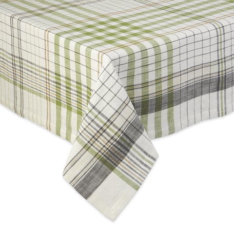 DII Design Imports Herb Garden Plaid Tablecloth  52 x 52""