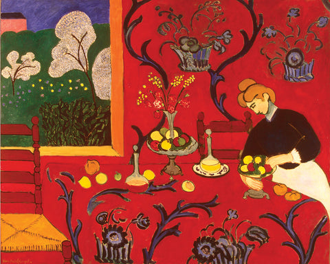 The Red Room - by Herri Matisse - Giclee Archival Fine Art Paper Reproduction