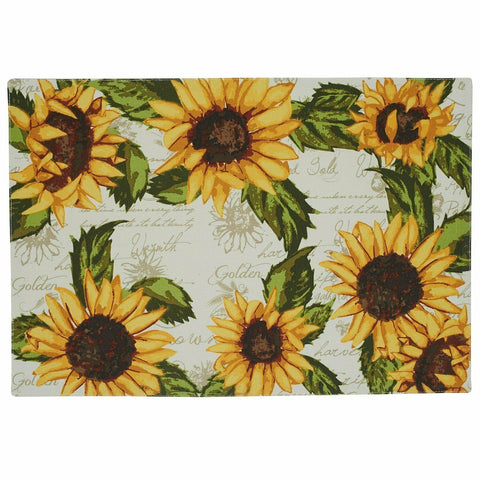 DII Design Imports Rustic Sunflowers Printed Placemat, Set of 4
