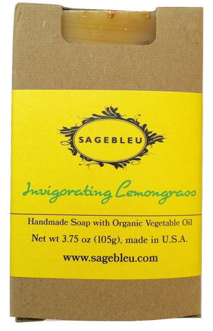 Sagebleu Organic Invigorating Lemongrass Bar Soap - sagebleu - 1