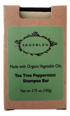 Sagebleu Orangic Tea Tree Peppermint Shampoo Bar - sagebleu - 1