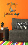 enjoy the journey hand painted wall sign decor
