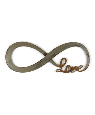 Infinite Love Rustic Hand Painted Wall Sign Decor