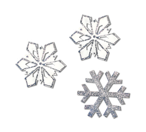 silver snowflake decorations