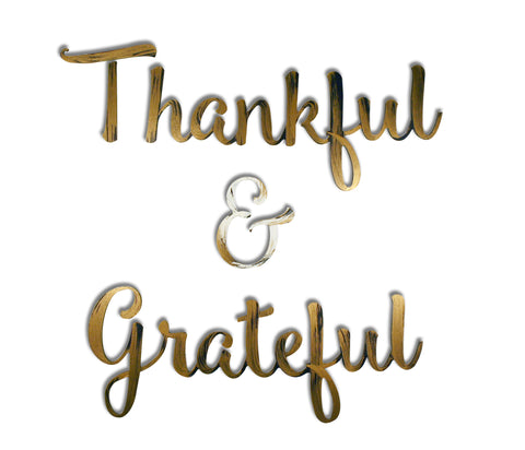 Thankful & Grateful Hand Painted Wall Decor