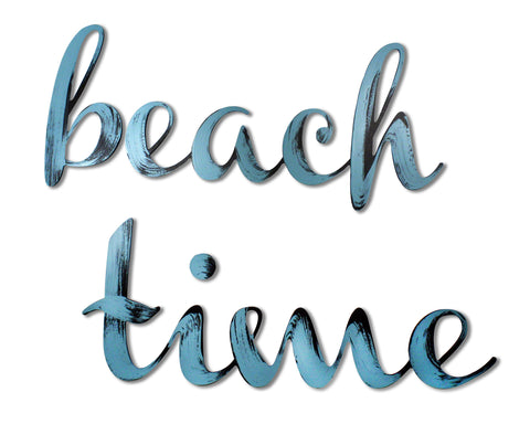 beach time sign