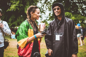 THE PEOPLE'S PONCHO: FOUNDER, JOHNNY TELLS EVERYONE TO DITCH THE UMBRELLA, FESTIVAL SEASON 2019.