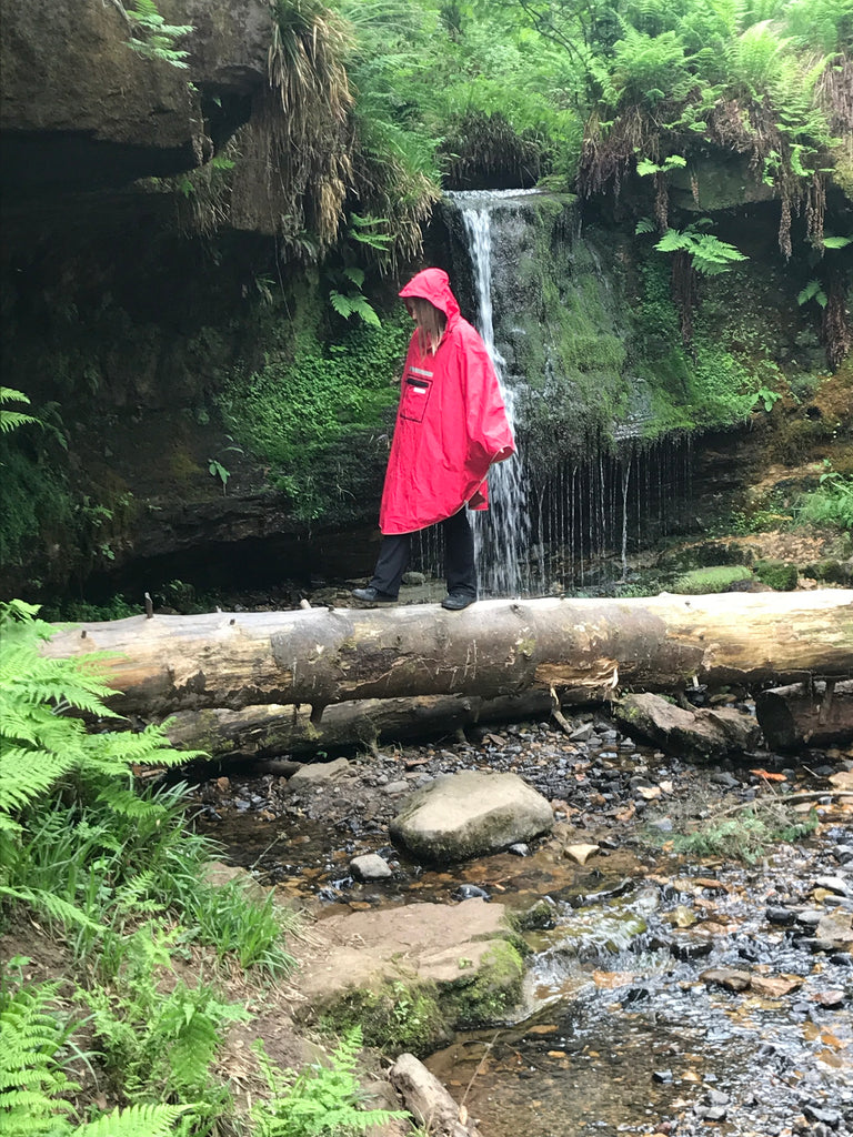 waterproof red poncho