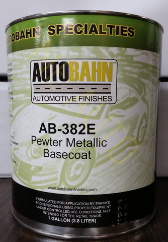 Chevy pewter metallic 382e basecoat clearcoat auto body for Autobahn body and paint