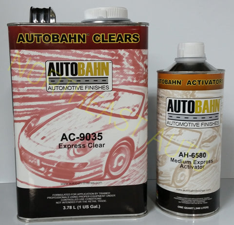 Express Cure Clear AutoBahn AC9035 (AC9035 w/ AH6580) Auto body shop restoration car paint