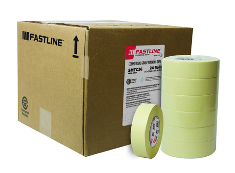 "SHERWIN WILLIAMS FASTLINE Commercial Masking Tape 1 1/2"" TAPE AUTO PAINT RESTORATION CAR PAINT SUPPLIES"