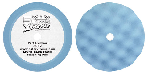 5082 LIGHT BLUE Foam Waffle Polishing Pad ULTRA-FINE - 2 Pack auto restoration car paint supplies
