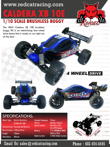 RedCat CALDERA XB 10E 1/10 SCALE BRUSHLESS BUGGY