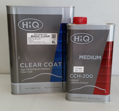 HiQ Magic Clear, High Performance Urethane Clear Coat, 4L restoration auto paint supplies