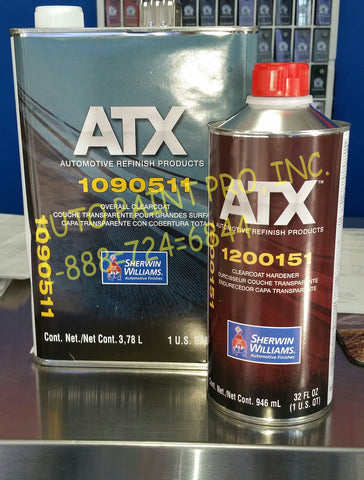 Sherwin Williams ATX 1910511 and ATX1200151 ujrethane clearcolat Auto Paint Restoration car Paint Supplies
