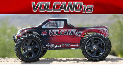 Redcat Racing VOLCANO-18 V2 1/18 SCALE ELECTRIC MONSTER TRUCK