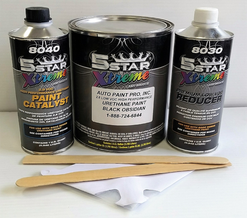 Black Obsidian single stage 5 star urethane auto restoration car paint supplies