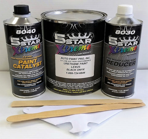 Black Onyx Lexus Single Stage 5  Star Urethane Auto restoration car paint supplies