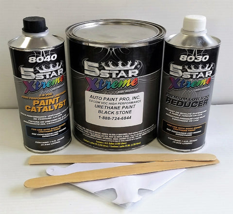 Black Stone single stage 5 star auto urethane paint kit restoration car supplies