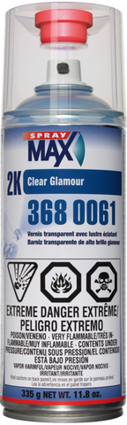 Spray Max 2K High Gloss Aerosol Clear Coat , 3680061