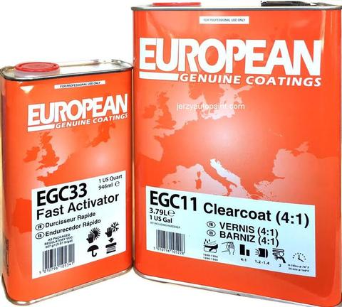 EGC11 4:1 UNIVERSAL OVERALL CLEARCOAT U-POL restoration auto paint supplies