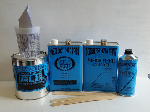 FLEET WHITE BASECOAT USC 10 CLEAR KIT BASECOAT CLEARCOAT AUTOMOTIVE RESTORATION CAR PAINT