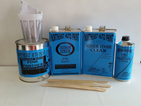 Pink Panther urethane base coat clear coat auto body restoration car paint kit BASECOAT CLEARCOAT AUTOMOTIVE RESTORATION CAR PAINT