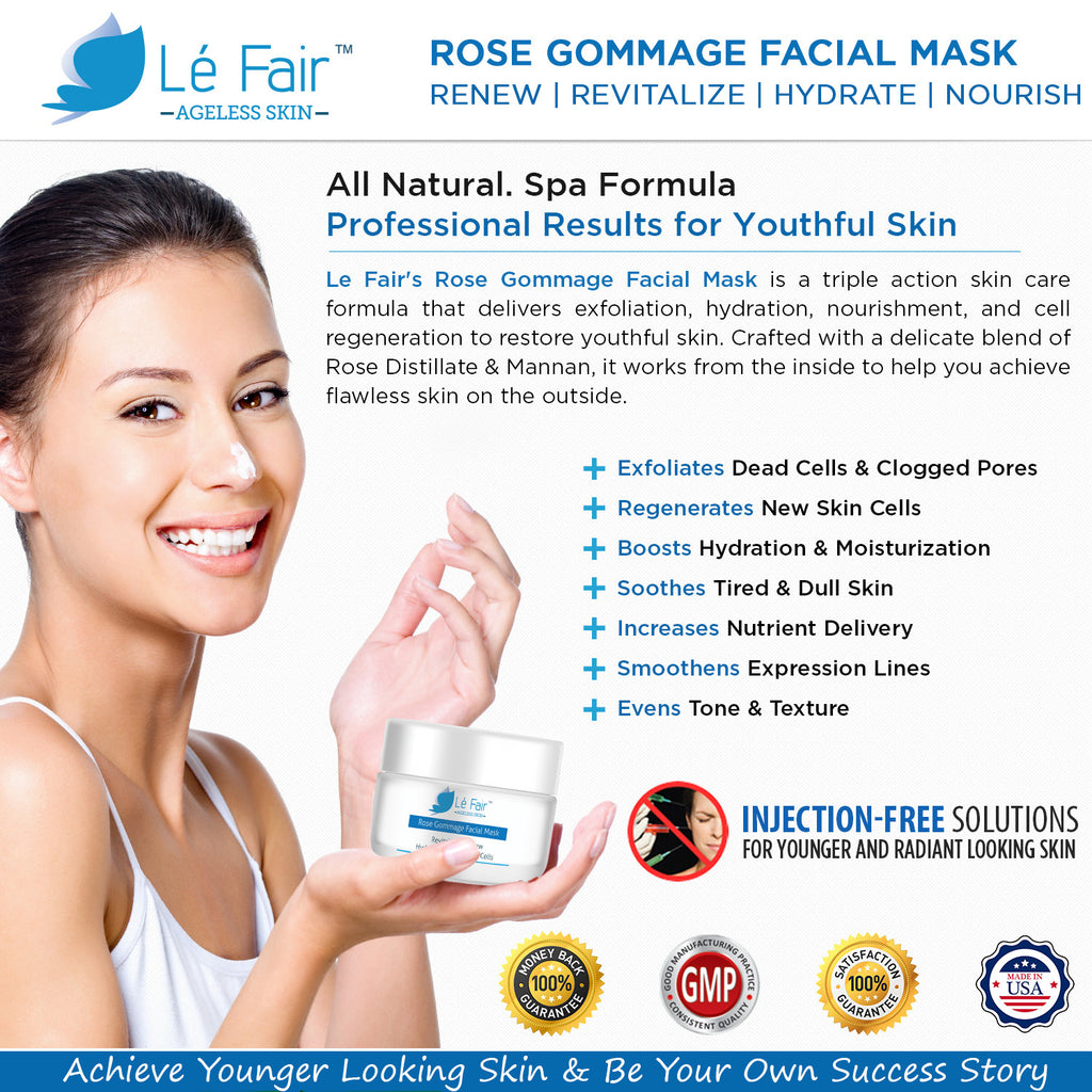Rose Gommage Facial Mask