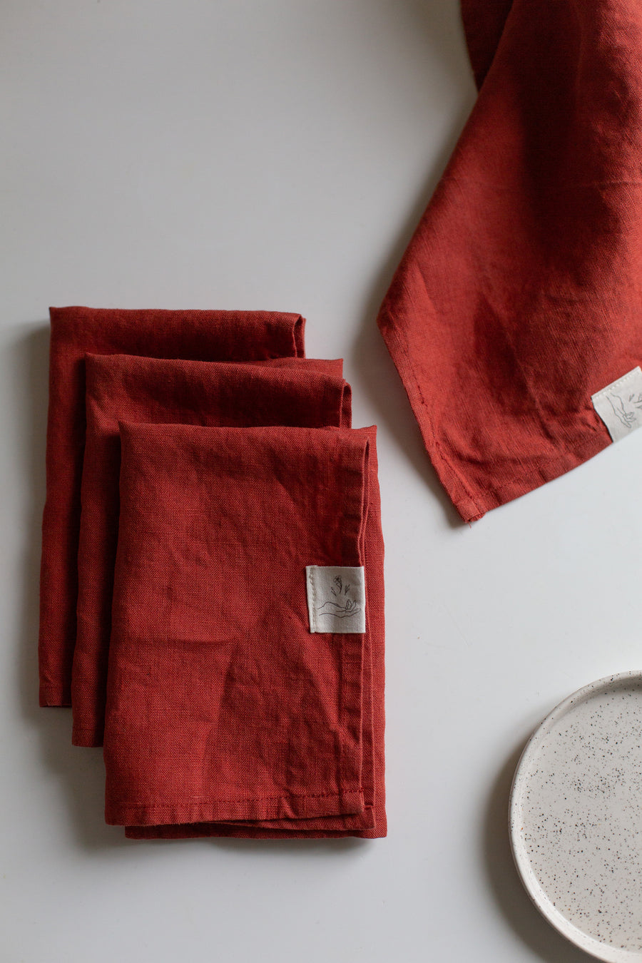 Serviettes de table en lin | Terra cotta