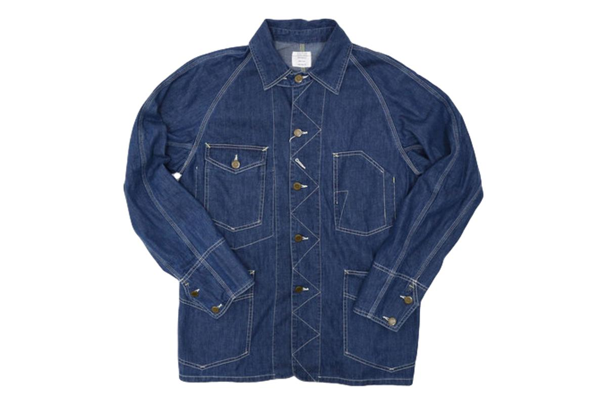 40's Coverall Chore Coat Lt. Denim-Vintage EL Japan-MILWORKS