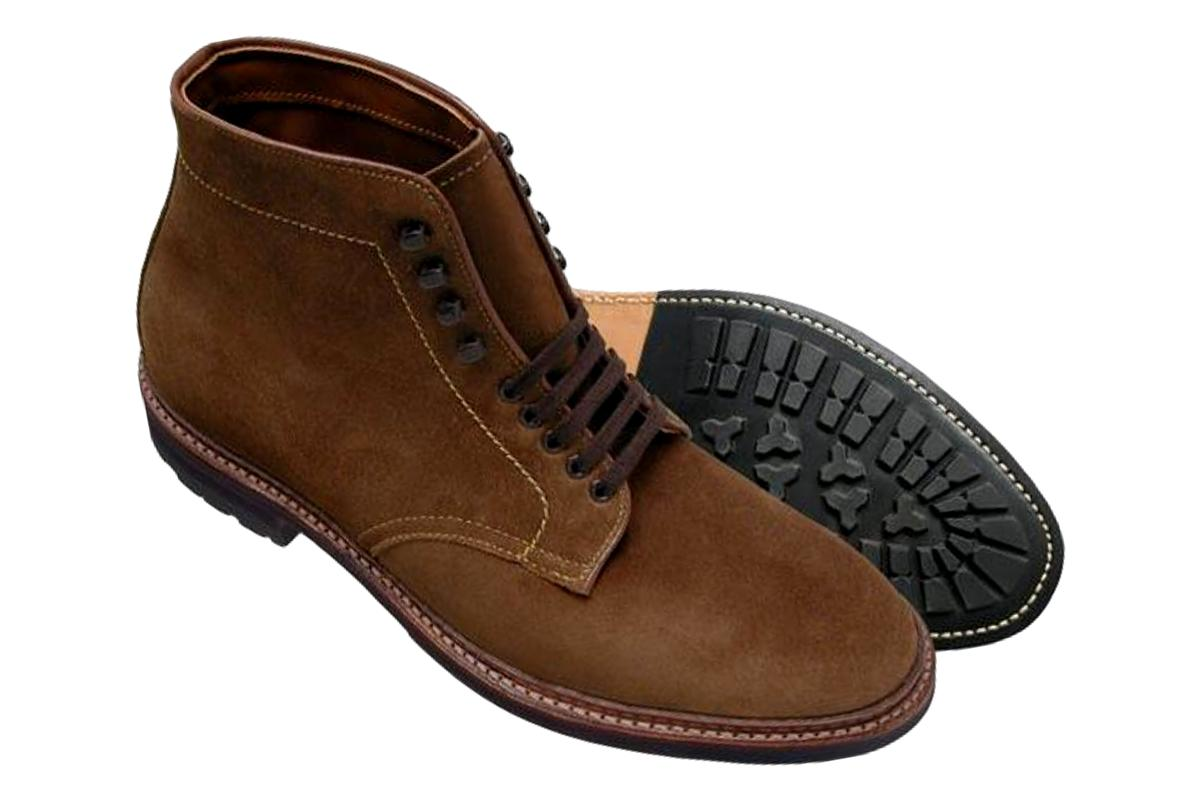 Alden 4511HC Plain Toe Boot in Snuff Suede